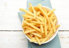 Tazón de fuente de patatas fritas Fotografía de archivo