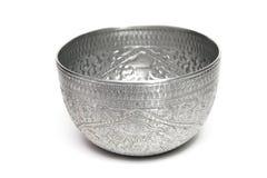 Tazón de fuente de plata Foto de archivo libre de regalías