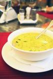Tazón de fuente de sopa de pollo fotos de archivo