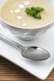 Tazón de fuente de sopa del espárrago Imagen de archivo libre de regalías