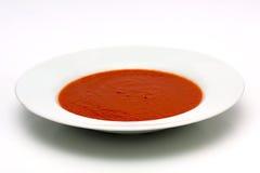 Tazón de fuente de sopa del tomate Fotografía de archivo