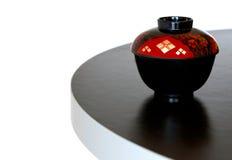 Tazón de fuente de sopa japonés Fotografía de archivo libre de regalías