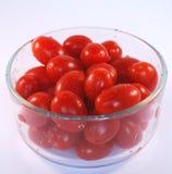 Tazón de fuente de tomates de la uva Foto de archivo