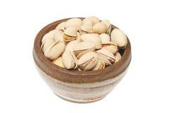 Tazón de fuente de tuercas de pistacho Foto de archivo