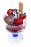 Tazón de fuente del helado Foto de archivo