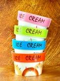 Tazón de fuente del helado Fotografía de archivo