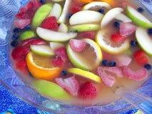 Tazón de fuente del ponche de fruta Fotografía de archivo