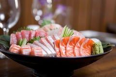 Tazón de fuente del sashimi Foto de archivo