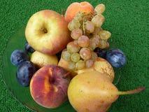 Tazón de fuente por completo con las frutas del otoño Imagen de archivo libre de regalías
