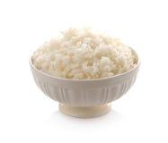 Tazón de fuente por completo de arroz fotografía de archivo libre de regalías