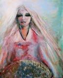 Tazón de fuente que lleva de la mujer exótica Imagen de archivo libre de regalías