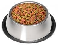 Tazón de fuente seco del alimento de perro Foto de archivo libre de regalías