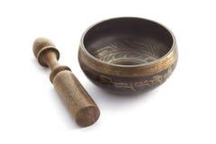 Tazón de fuente tibetano del canto Fotografía de archivo