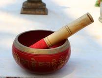 Tazón de fuente tibetano del canto Fotos de archivo