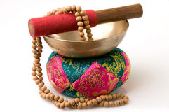 Tazón de fuente tibetano del canto imagen de archivo