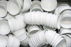 Tazón de fuente y taza Fotografía de archivo