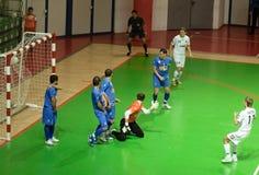 Taza 2008-2009 de la UEFA Futsal Imagenes de archivo