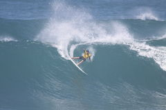 Taza 2009 de mundo de campeón que practica surf Foto de archivo