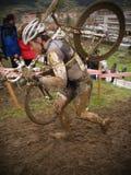 Taza 2010-2011 de mundo de Cyclocross en Igorre Imagenes de archivo