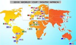 Taza 2010 de mundo Suráfrica ilustración del vector