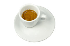 Taza aislada de la porcelana de café express Fotografía de archivo libre de regalías