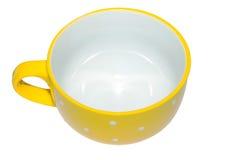 Taza amarilla grande Foto de archivo libre de regalías