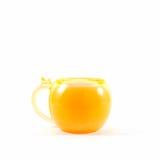 Taza anaranjada aislada Foto de archivo