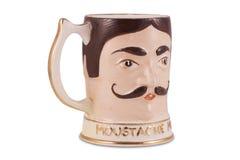 Taza antigua del bigote Imagen de archivo