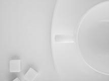 Taza blanca Fotografía de archivo