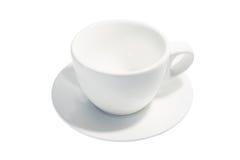 Taza blanca de la porcelana aislada Fotografía de archivo