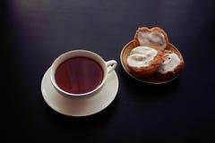 Taza blanca de té imágenes de archivo libres de regalías