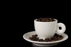 Taza blanca del café express Foto de archivo