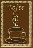 Taza blanca del coffe Imagenes de archivo