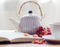 Taza blanca del té Imagenes de archivo