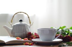 Taza blanca del té Foto de archivo