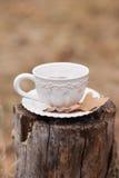 Taza blanca del vintage Imagen de archivo