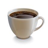 Taza blanca realista aislada del coffe Fotos de archivo