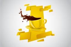 Taza brillante del color del vector de bebida caliente Imagenes de archivo