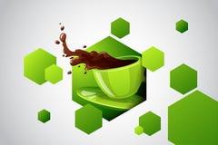 Taza brillante del color del vector de bebida caliente Foto de archivo libre de regalías