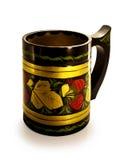 taza Brillante-pintada, de madera. Fotos de archivo libres de regalías
