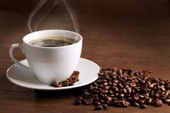 Taza caliente de ciffee Foto de archivo