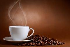 Taza caliente de ciffee Foto de archivo libre de regalías