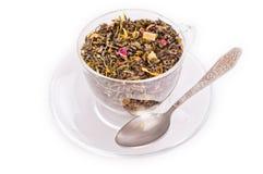 Taza con brew del té Foto de archivo libre de regalías