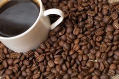 Taza con café Imagen de archivo libre de regalías