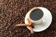 Taza con café Imágenes de archivo libres de regalías