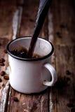 Taza con café Foto de archivo