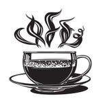 Taza con café caliente Imagen de archivo libre de regalías