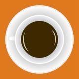 Taza con café caliente Fotografía de archivo libre de regalías