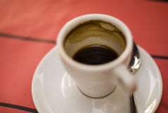 Taza con café Fotografía de archivo libre de regalías