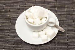 Taza con el azúcar Fotografía de archivo